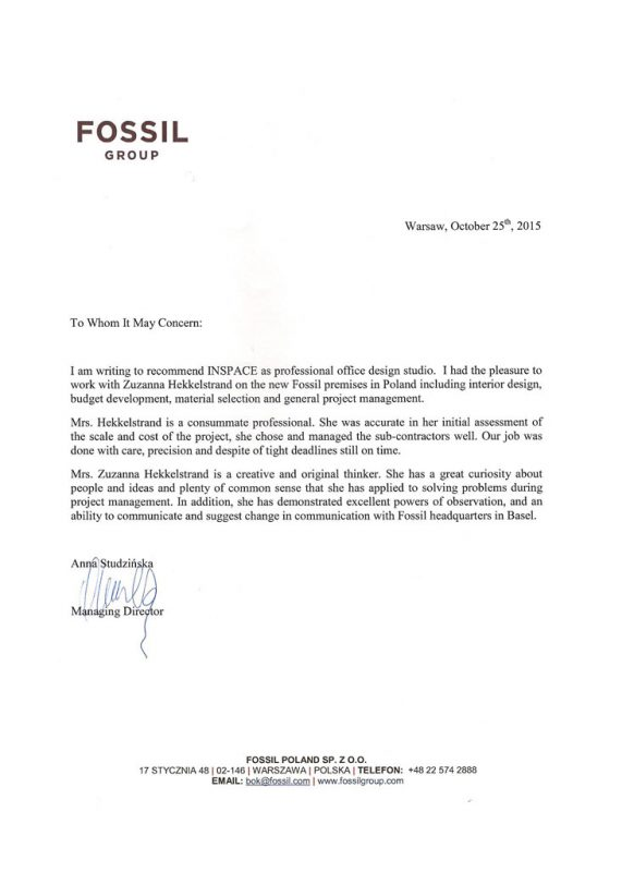 fossil-referencje