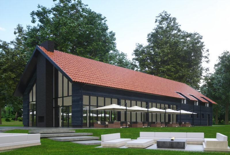nowoczesna stodoła mazurska