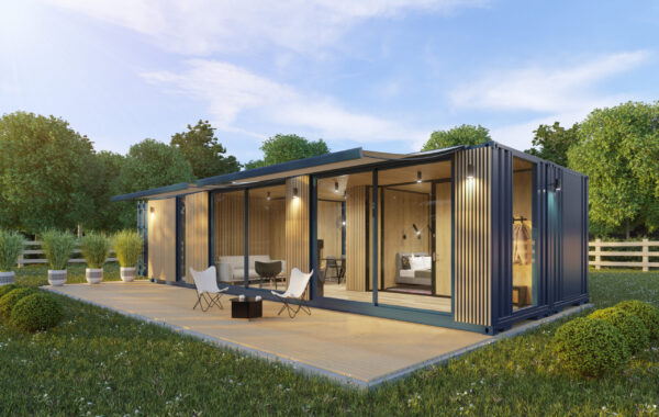 MARINE CONTAINER HOUSE – OAK AND BLACK
